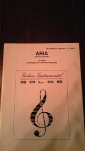 ARIA (Bist Du Bei Mir)/  J.S.Bach作曲  R.Bernard Fitzgerald編曲