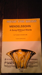 A Song Without Words Op.38 / F.Mendelssohn作曲 Geoffrey Emerson編曲