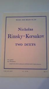 リムスキー・コルサコフ作曲 TWO DUETS