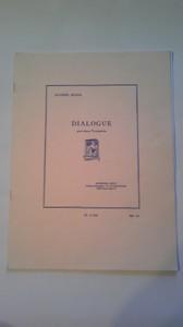 EUGEN BOZZA作曲 DIALOGUE pour deux Trompettes
