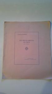 JACQUES CASTEREDE作曲 SIX PIECES BREVES EN DUO pour 2 Trompettes