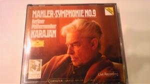 マーラー作曲 交響曲第九番 カラヤン指揮 ベルリンフィル