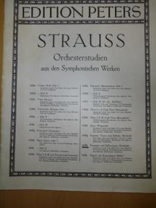 STRAUSS Orcheserstudien aus den Synphhonieschen Werken EDITION PETERS